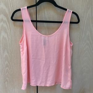 Forever 21 pink flowy tank top